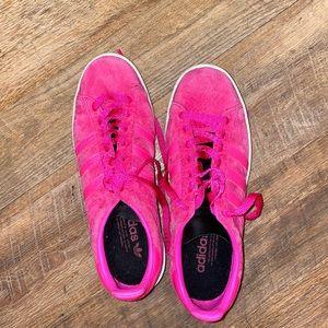Adidas Campus Neon Pink Suede Sneaker